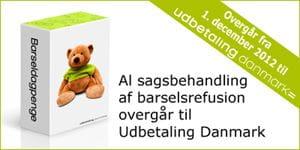 Barseldagpenge overgår til Udbetaling Danmark