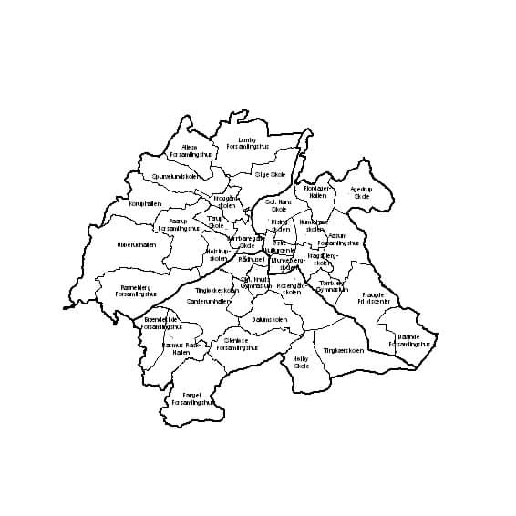 Kort over valgkredse og afstemningssteder, Odense 2005