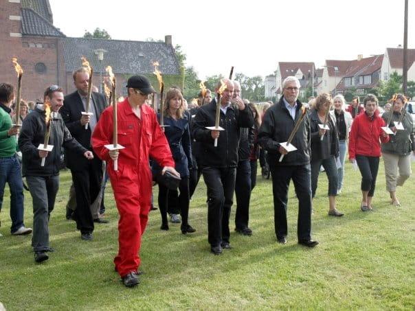 Der var ca. 200 fremmødte som gik turen fra Ansgar anlæg til Flakhaven.