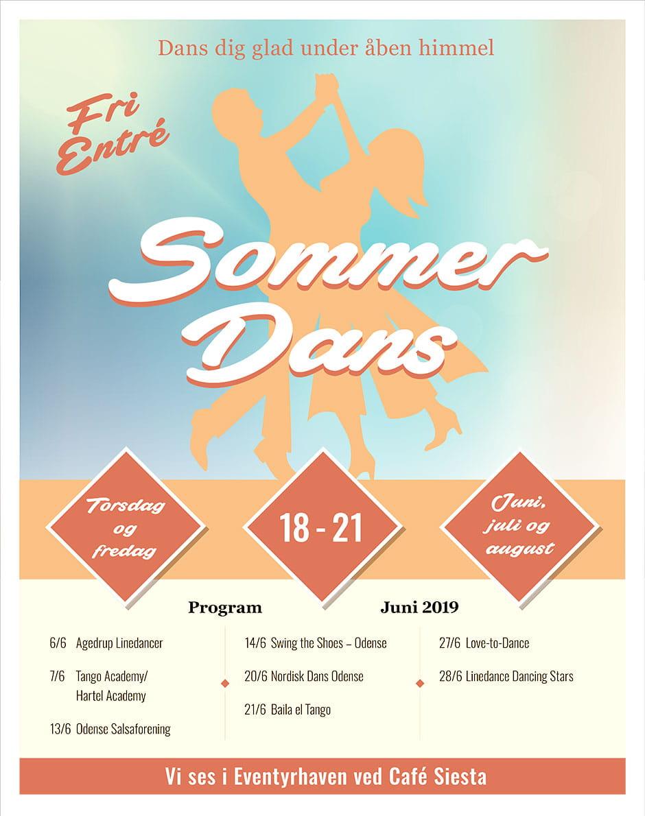 Billede af program for sommerdans 2019
