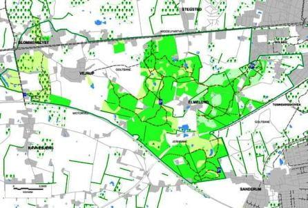 Billedelink til kort over Elmelund Skov