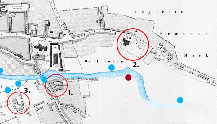 Odenses sydøstlige udkant i 1861