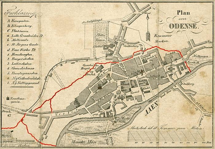 Kort over Odense 1839