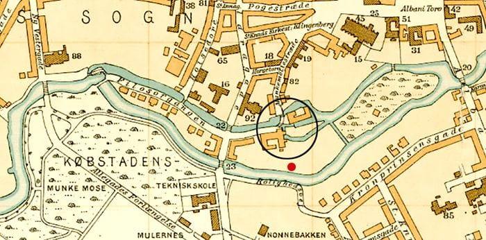 Kort over Munke Mølle