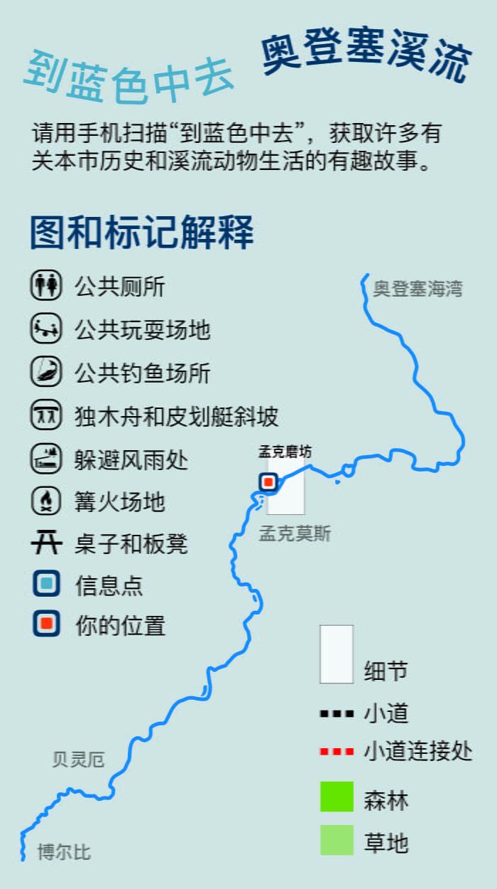 Munke Mølle angivet på kinesisk kort