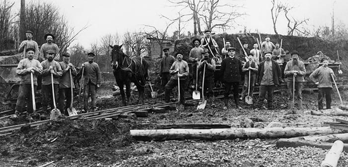 Afgravning ved Nonnebakken ca 1909