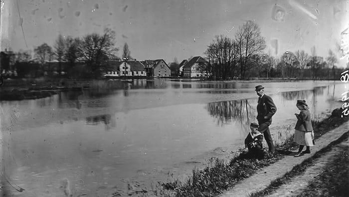 Ejby vandmølle, omkring 1900