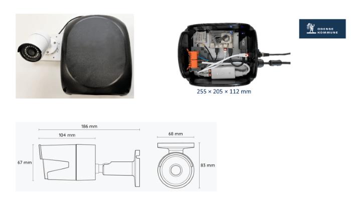 Billedet viser sensoren og dennes dimensioner