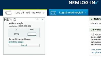 Screendump af virk.dk