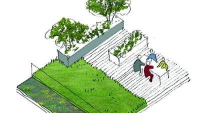 Tegning over en blandingshave