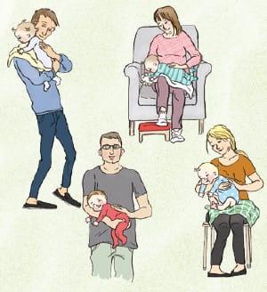 Billede af måder at få baby til at bøvse